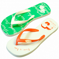 cartoon flipflops, send us your cartoon and we can print them on the sandals
