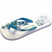 Personalized Cartoon of the bride and groom flip flop
