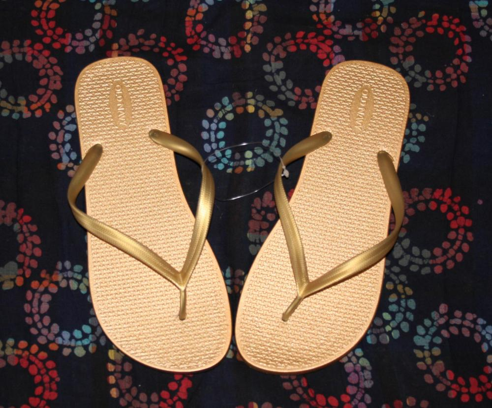 Gold Old Navy Flip Flops - New