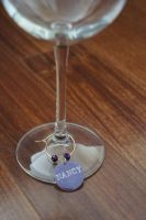 Custom made unique wine charms 4 for $16.  Great for wedding or shower favors, bridal party gfits, etc!