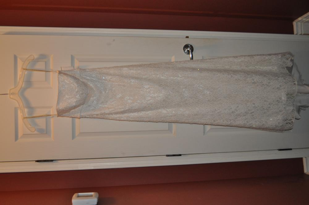 Galina Size 2 Dress All over beaded lace gown with sweep train