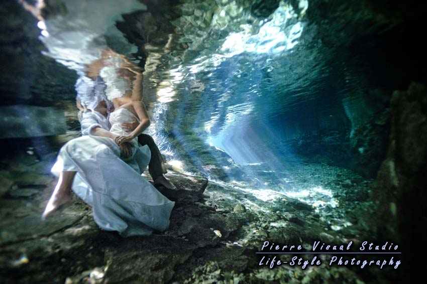 Cenote Trash The Dress near Cancun - Mayan Riviera - Mexico