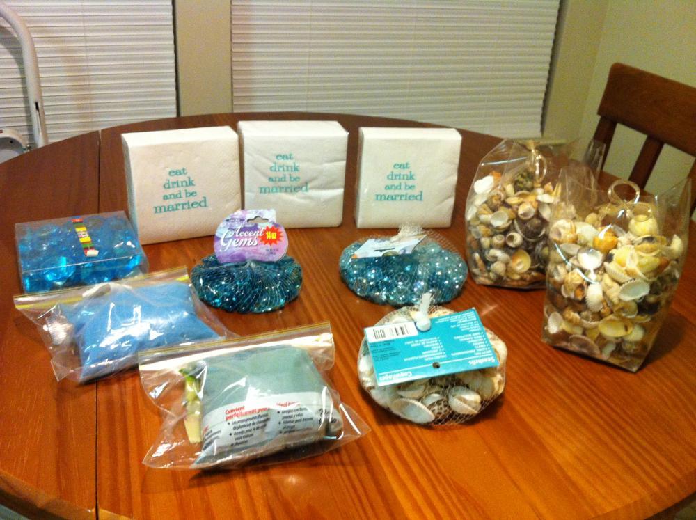 A few ceremony/AHR beach theme items