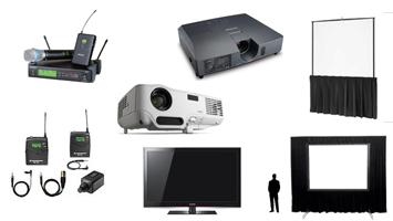 This is a gallery showing the type of equipment used at events. We also do equipment rentals