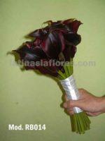 Black calla lilies bouquet