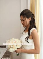 roses and cymbidium orchids bouquet
