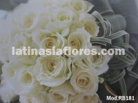 white roses and  foliage bouquet