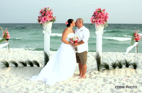 Bride and Groom at a Destin Wedding
