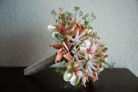 My bridal bouquet, made by www.seashellsinbloom.com