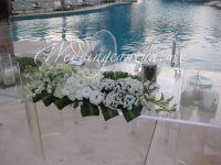 dendrobium orchids and lisianthus floral decor