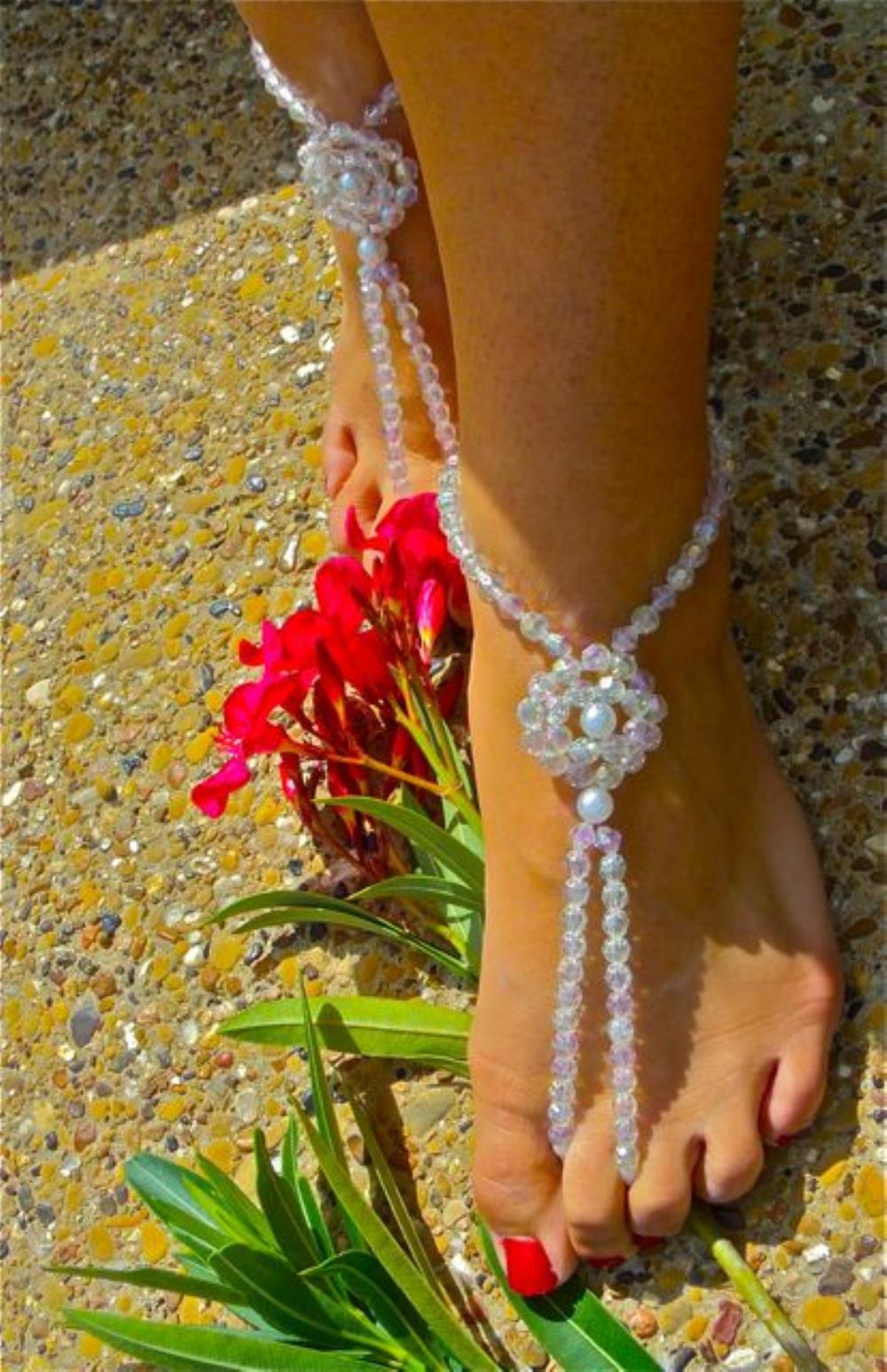"""Crystal Sea Goddess"" Barefoot Beach Jewelry"