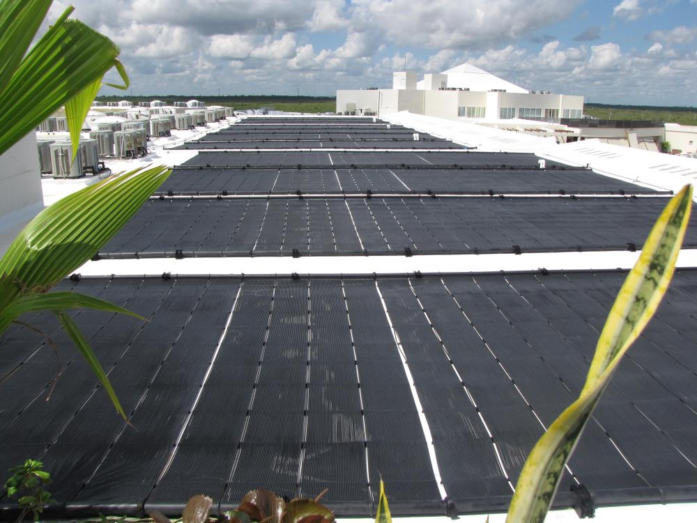 All of the hot water from this property is provided by solar water heaters!