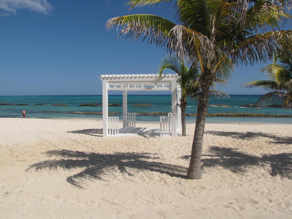 One of many beach gazebos