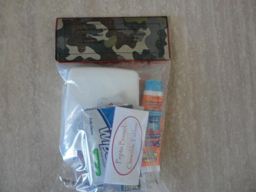 Back of Wedding Week Survival Kit