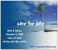 save the date postcard from vistaprint