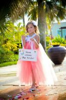 My Niece Yazmine as one of our flower girls in Punta Cana at the Now Larimar Fountain