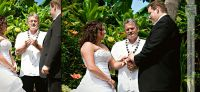 Ceremony took place in the lush tropical garden