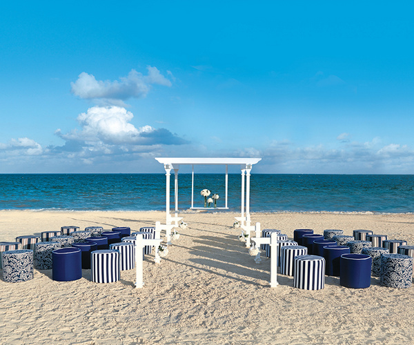 www.crystalwaterweddings.com Experienced travel agents who strongly value providing first class service and have a deep passion for destination weddings.  Nautical.  Crisp navy blue and white fabrics of varying pattern, while an aisle of brilliant white p