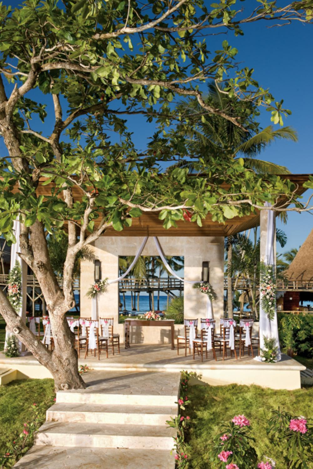 Zoëtry Agua Punta Cana The rustic, yet elegant, wedding gazebo at Zoëtry Agua is a romantic setting to exchange vows. www.crystalwaterweddings.com Experienced travel agents who strongly value providing first class service and have a deep passion f