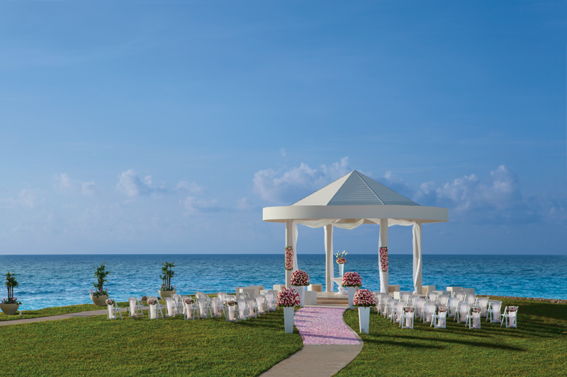 www.crystalwaterweddings.com Experienced travel agents who strongly value providing first class service and have a deep passion for destination weddings.  Dreams Cancun Resort & Spa. A stunning wedding set-up around the gazebo.