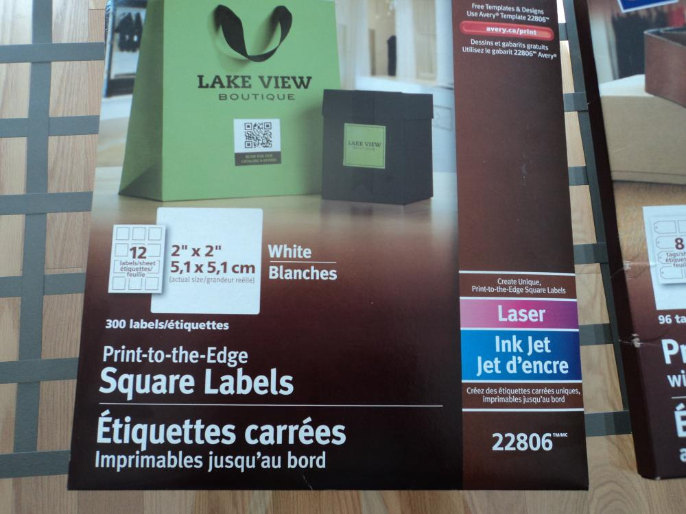 Square labels: 19 sheets 12 per sheet total : 228 square labels Price: $5.00