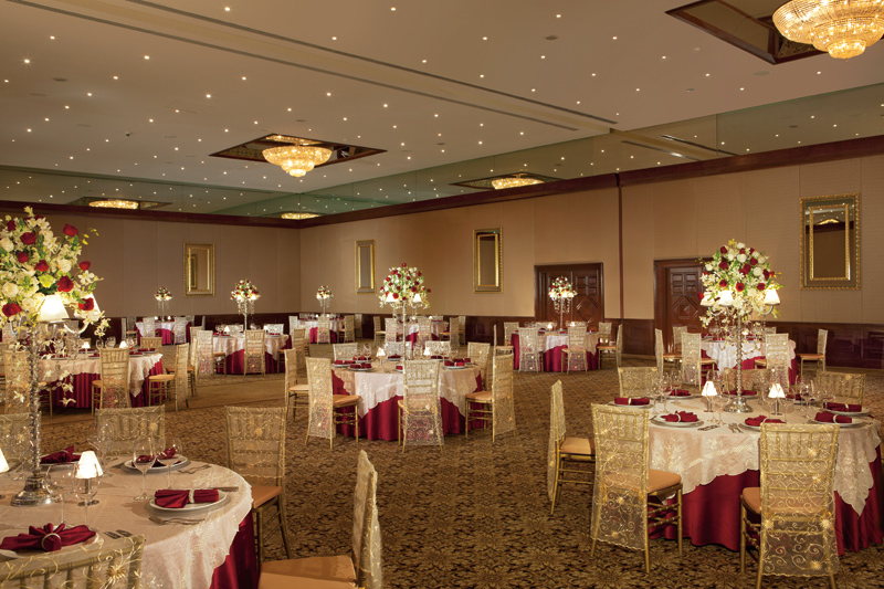 www.crystalwaterweddings.com Experienced travel agents who strongly value providing first class service and have a deep passion for destination weddings.   The ballroom at Now Sapphire can accommodate a variety of large incentive events or weddings.