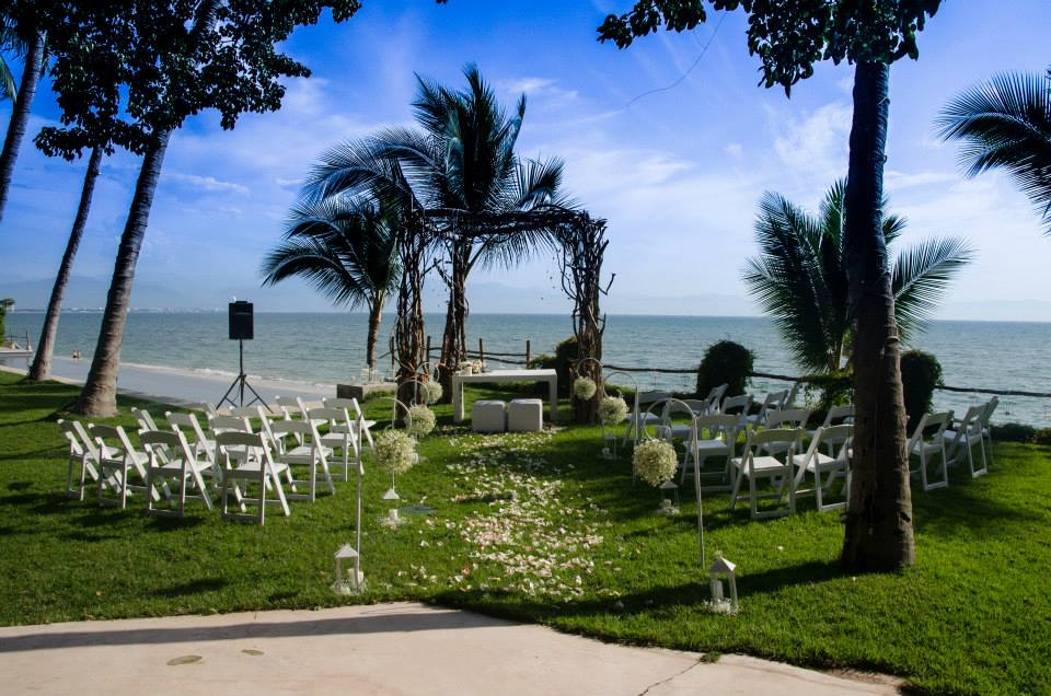 Ceremony may be on the grass or sand!