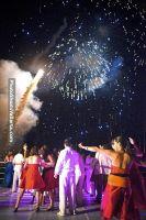 Fireworks over the water in front of the dancefloor!