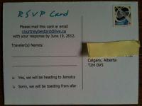 back of post card RSVP :)