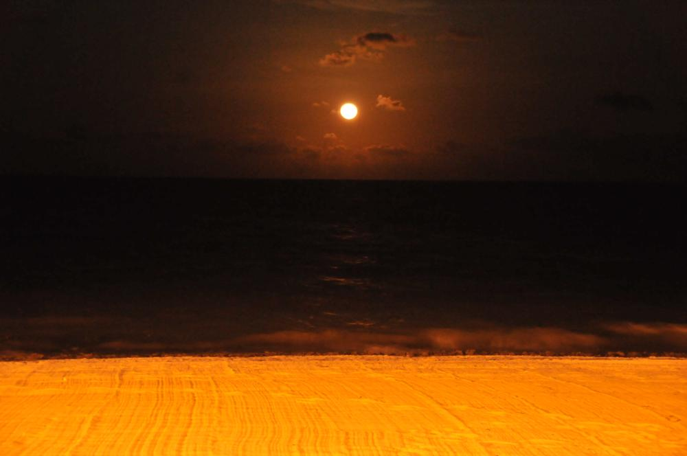 super moon was that night...the moon is beautiful at Moon Palace...look into having your wedding on a full moon