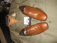 Groomsmen suit, shoes, and cufflink. White shirts will be worn