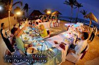front beach wedding reception at dream puerto aventuras
