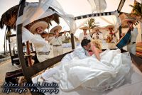 Beach wedding at Dreams Puerto Aventuras, Riviera Maya, Mexico.