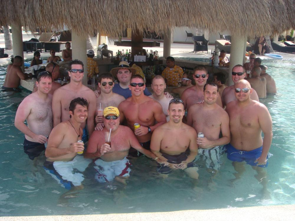The guys at the swim up bar