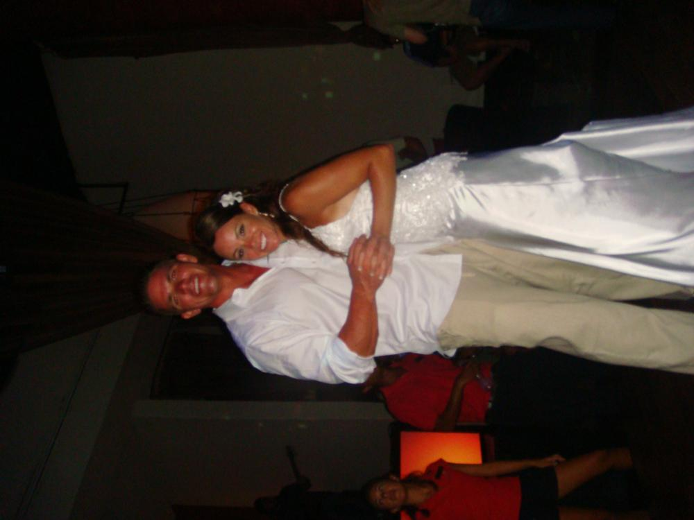 Our first dance at the disco