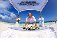 grand palladium wedding ceremony on the beach