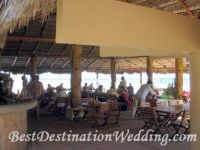 Outdoor Restaurant under a palapa