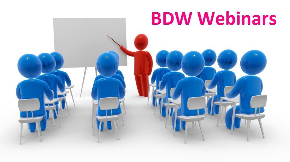BDW Wedding Webinar Schedule for 2012