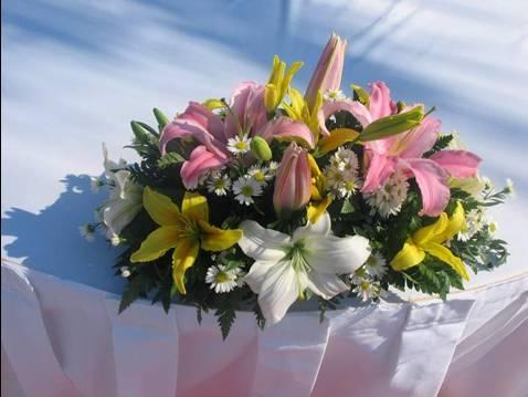 Flower Centerpiece (Ceremony table)